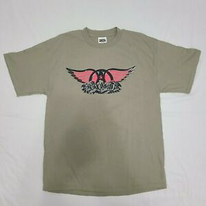Aerosmith Nothing Can Stop This Rock World Tour 1999 T-Shirt Green Vintage XL