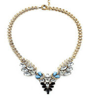 N663 Betsey Johnson Brides Crystal Gem Wedding Accessories Cocktail Necklace US