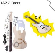 New JAZZ Bass Style 4 Strings Electric Bass Solid Basswood Body DIY Kit Set Gift