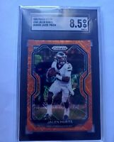 Jalen Hurts 2020 Panini Prizm Orange Lazer #343 SGC 8.5 rookie card Eagles