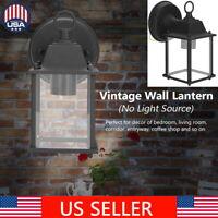 Retro Vintage Outdoor Wall Lamp Lantern Sconce Light Holder Fixture Garden Porch