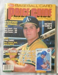 Jose Canseco Oakland A's - July 1990 SCD Baseball Card Price Guide