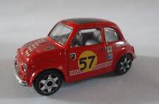 BURAGO 1/43 STREET FIRE Fiat 500 Sport rosso Speed Machines Macchina Car Vintage