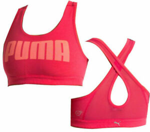 Puma Yogini Womens Sports Bra Fitness Dry Cell Top Pink 514073 03 A9D
