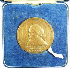 1970, Britain, Literature. CHARLES DICKENS CENTENARY. By Vincze. Silver-gilt