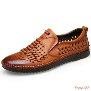 Mens Summer Casual mesh Breathable Sewing slip on loafer Hiking Comfy shoes