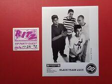 BLACK TRAIN JACK,1 Promo Photo,1 RARE Backstage pass,Tour Originals