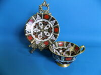 Abbeydale Chrysanthemum Footed Heavily Gilded Imari Cup & Saucer
