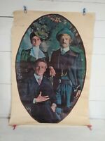 Vtg 1969 Platt Butch Cassidy and The Sundance Kid Movie Poster Newman Redford