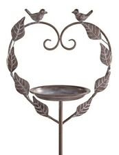 New listing Victorian Trading Co Iron Laurel Leaf Lovebirds Garden Stake Bird Feeder