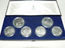 Russland Satz Olympiade 1980 5 und 10 Rubel UdSSR Silbermünzen (da2833)