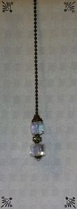 Handcrafted Antique Gold And Crystal AB Cube Ceiling Fan Pull