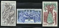 France 1967 MNH Mi 1604-1606 Sc 1199-1201 French history ** Kings of France