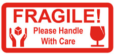 FRAGILE Please Handle With Care - Small Red Postal - Sticky Labels / Stickers