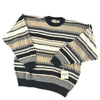 Vintage 90s Cotton Traders Coogi Style Biggie 3D Textured Sweater Sz L Deadstock