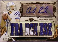 2013 ANDREW LUCK TOPPS TRIPLE THREADS AUTOGRAPH JERSEY CARD 11/18 MINT