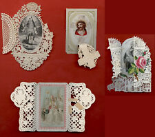 santini merlettati-holy cards lace-canivets-spitzebildichen LOTTO N.226