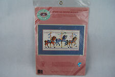 """Dimensions From the Heart Counted Cross Stitch """"Merry-Go-Round Horses"""" - NIP"""