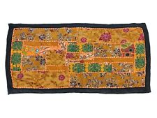 WALL ART VINTAGE TAPESTRY RUNNER BOHEMIAN EMBROIDERED PATCHWORK OLD HANGING