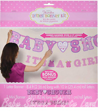 It'S A Girl Jumbo Letter Banner Kit Baby Shower Decoration Party Supplies