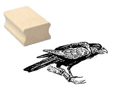 Motivstempel « RABE 02 » Motiv Stempel Scrapbooking Unglück Vogel Hexe Herbst