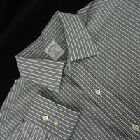 Men Brooks Brothers 346 Slim Fit Striped Oxford Dress Shirt Size 16.5-2/3 Large