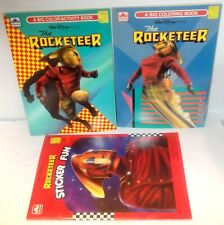 ✰ Walt Disney's the Rocketeer Color, Activity and Sticker Books LOT coloring