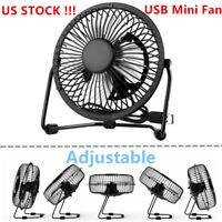 Sale 4inch Small Desk Table Fan Personal USB Air Circulator Mini Portable Retro