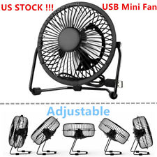 4inch Desk Table Fan Personal USB Small Air Circulator Quiet Mini Portable Retro