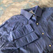 Brooks Brothers 16-33 Business Blue French Cuff Slim Fit Button Down Men's Shirt