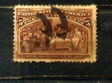 1893 USA Old Stamps 5c. CV Rm 26