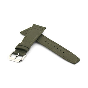 Green Kelvar Fabric Leather Watch Strap For IWC Pilot (20mm, 22mm)