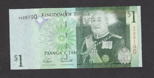 1 PAANGA AUNC  BANKNOTE FROM TONGA 2009 PICK-37