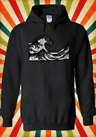 The Great Wave off Kanagawa Hokusai Men Women Unisex Top Hoodie Sweatshirt 2452