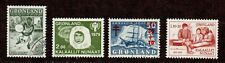 Greenland Scott 41, 111, B1, B8 Select Commems & Semi-Postals Mnh & Canceled L1