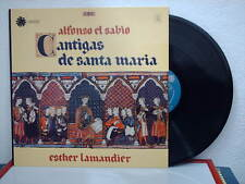 DISQUE 33T/30 cm - ALFONSO EL SABIO - CANTIGAS DE SANTA MARIA - ESTHER LAMANDIER