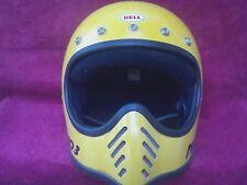 Vintage 1975  Bell Moto 3 III Motorcycle Racing Helmet size 7-1/2 N/R .99 cents