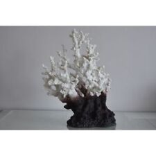 Décorations blancs en polyrésine pour aquarium, bassin et mare