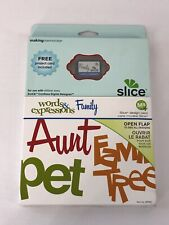Making Memories Slice Design Card Words & Expressions Family BRAND NEW