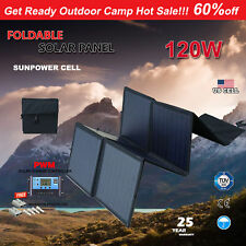 120W 12V Mono Folding Solar Panel Kit Flexible Silicon Blanket Caravan Camping