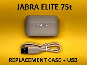 Jabra Elite 75t Replacement Charging Case w/ USB Cable - Beige Gold