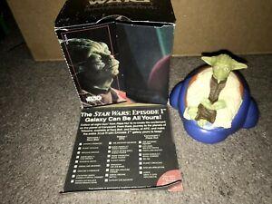 1999 Taco Bell Star Wars Phantom Menace Yoda's Jedi Destiny With Box