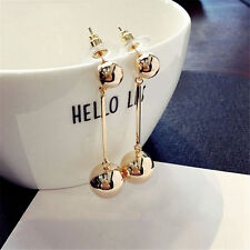 Fashion Women Bling Ball Earrings Long Chain Drop Dangle Earrings Jewelry 1 PAIR
