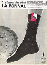PUBLICITE ADVERTISING  1963   LA BONNAL   chaussettes 2