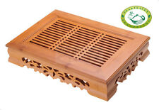 "YEME Chinese Bamboo Gongfu Tea Table Serving Tray 14""*10.3"""
