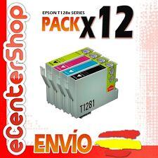 12 Cartuchos T1281 T1282 T1283 T1284 NON-OEM Epson Stylus SX130