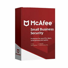 Antivirus Mcafee Small Business Security 2018 1 Año Pc Version Digital