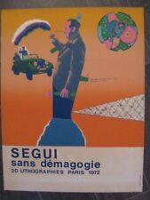 """Antonio Segui - Set de 20 lithographies """"Sans démagogie"""""""