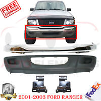 For 01-03 02 FORD RANGER 2WD EDGE F BUMPER VALANCE CHR W//O