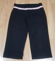 Victoria's Secret Sport Relaxed Fit Black Capri Yoga Pants Size Medium